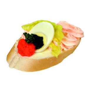 Chlebíček lososová pěna